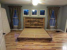 king sized platform bed   headboard