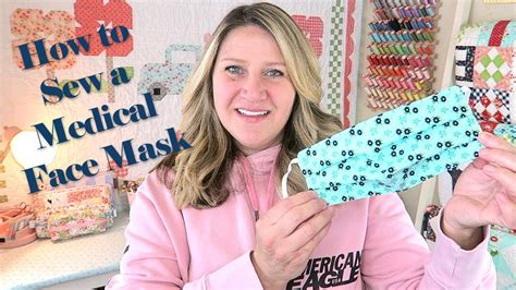 sew  medical face mask tutorial youtube