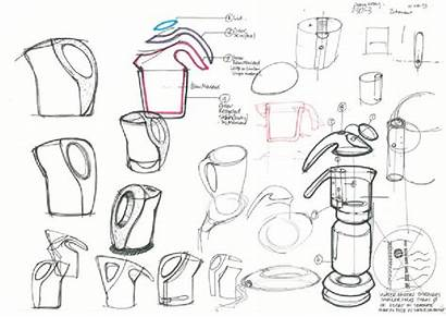 Industrial Kettle Axis Icon Sketches Concept Eco