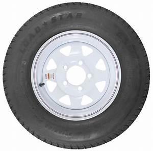 Loadstar St185  80d13 Bias Trailer Tire With 13 U0026quot  White