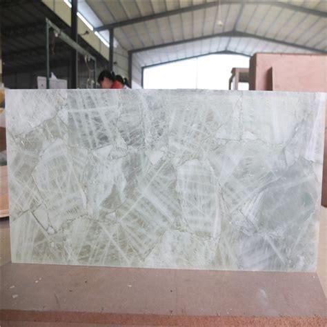 natural quartz crystal stone backlit tileslab