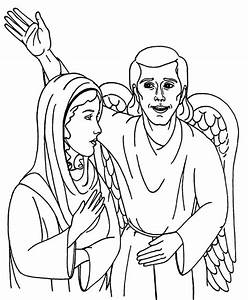 33 Angel Visits Joseph Coloring Page 1000 Images About