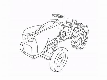 Tractor Animation Outline Line Drawing Svg Dribbble