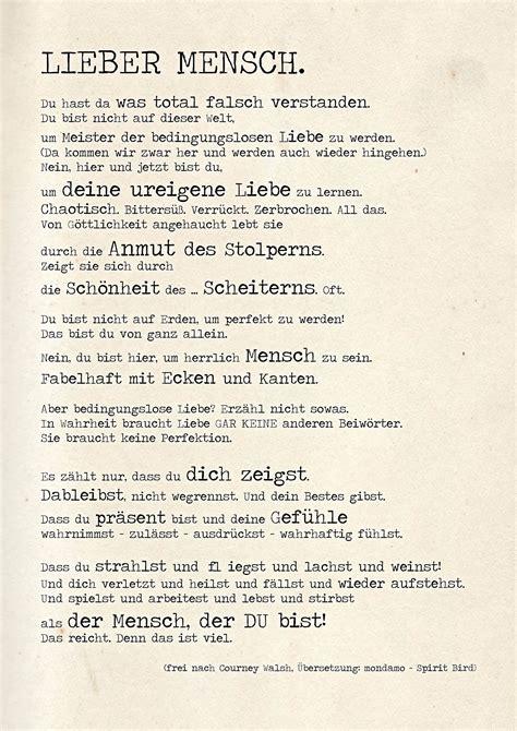 courney walshs gedicht auf deutsch deine ureigne liebe