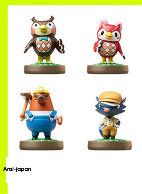 amiibo animal crossing owl fuko futa shank kicks caramel
