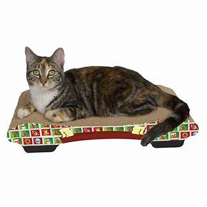 Christmas, Style, Cat, Scratcher, Bed