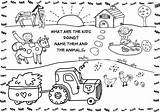 Farm Coloring Animals Animal Printable sketch template