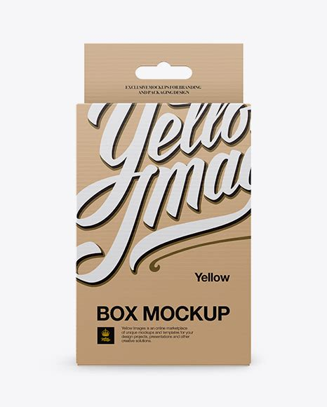 Free open empty box mockup to showcase your branding mailing packaging in a photorealistic style. Kraft Paper Box Mockup - Front View - Download Kraft Paper ...