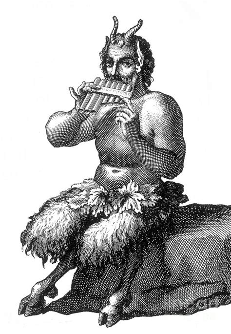 Greek God Pan Photograph by Photo Researchers