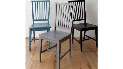 Village Bruno Black Wood Dining Chair   Crate and Barrel