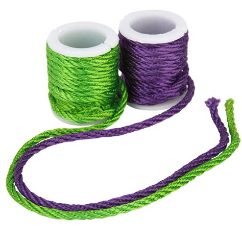 colored string 10 rolls mixed colored cord beading thread string 3