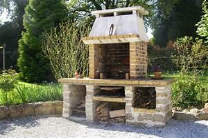 barbecue fait maison brique obasinccom With barbecue fait maison brique