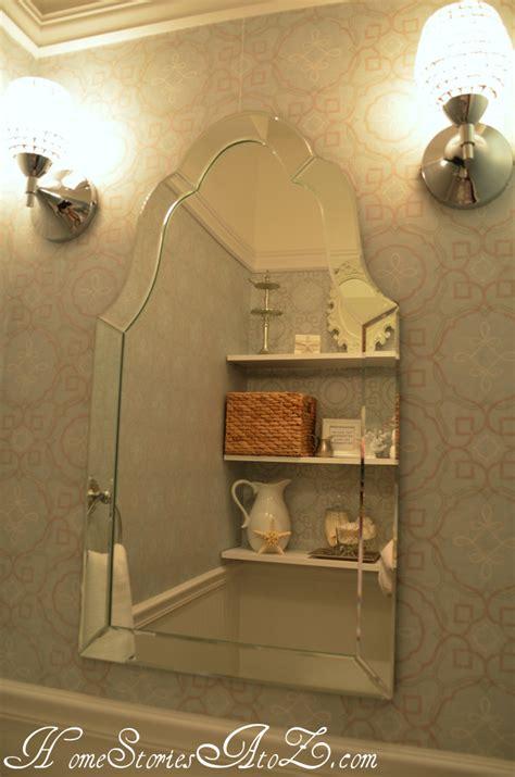 bath reveal powder room home stories