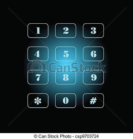 black phone number eps vector of phone number on black and blue background