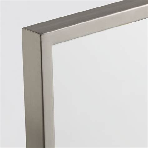 floor mirror metal frame metal framed floor mirror west elm