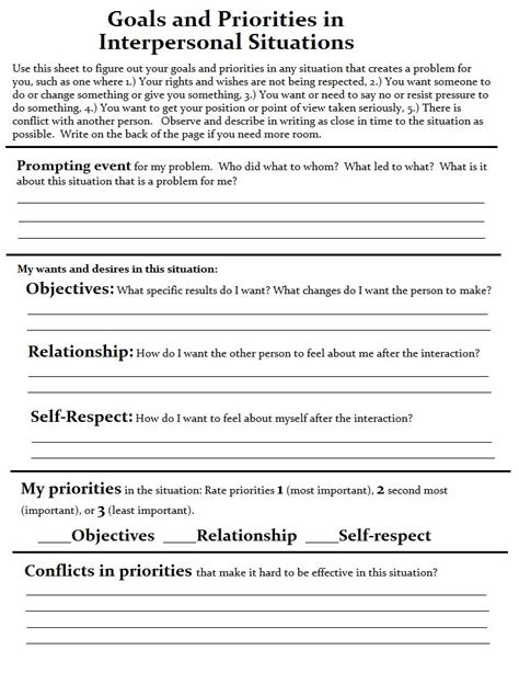 Couples Counseling Communication Worksheets