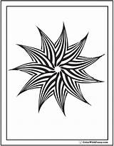Coloring Geometric Pinwheel Patterns Point Pattern Colorwithfuzzy Printable Colouring Templates Detailed Customize Getcolorings Colour Getdrawings sketch template