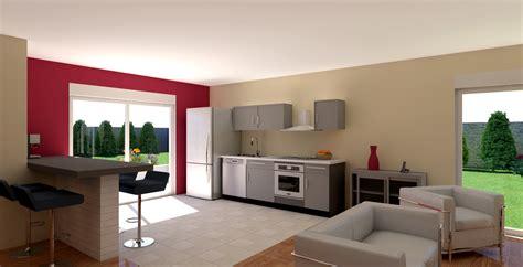 peinture salon cuisine ouverte idee peinture salon cuisine ouverte 9 maison basse