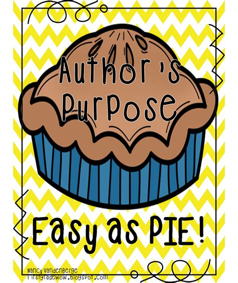 First Grade Wow Author's Purpose