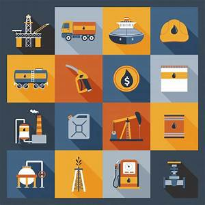 Oil Industry Icons Flat Vector | Free Download