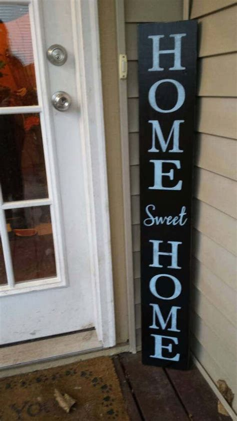 Home Sweet Extra Large Porch Sign Vertical Wood