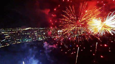 fireworks display filmed   drone  gopro     spectacular