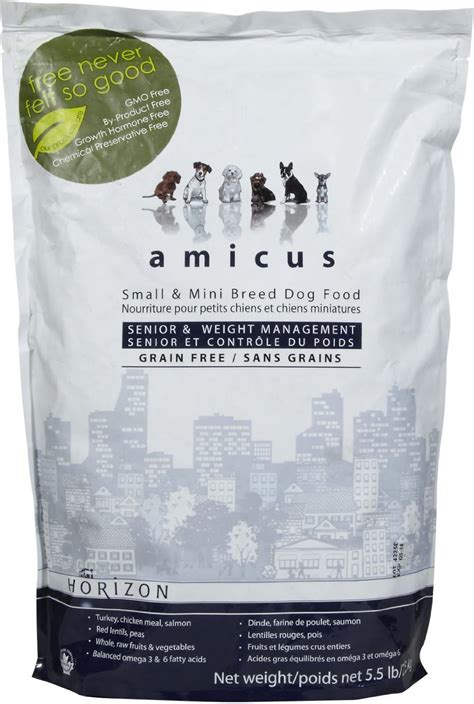 am駭agement mini cuisine horizon amicus small mini breed senior weight management grain free food 5 5 lb bag chewy com