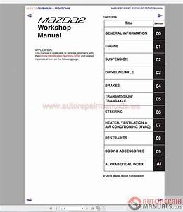 Mazda 2  2002-2014  Workshop Manual