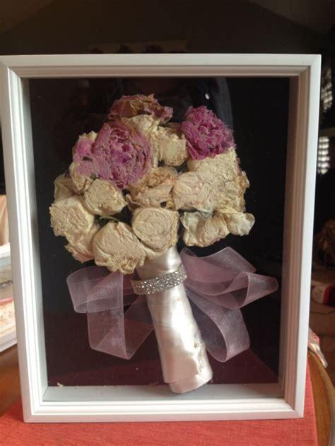 my wedding bouquet shadow box diy i do