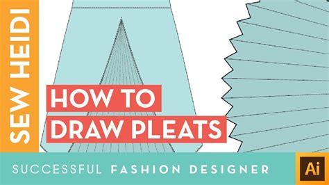 draw pleats  illustrator youtube