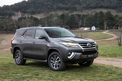 Made for all terrains, this suv has a rear differential lock, downhill and hill start assist control, rear sensors, fog lamps, daytime running lights and smart entry and push button start. TOYOTA Fortuner specs & photos - 2015, 2016, 2017, 2018 ...