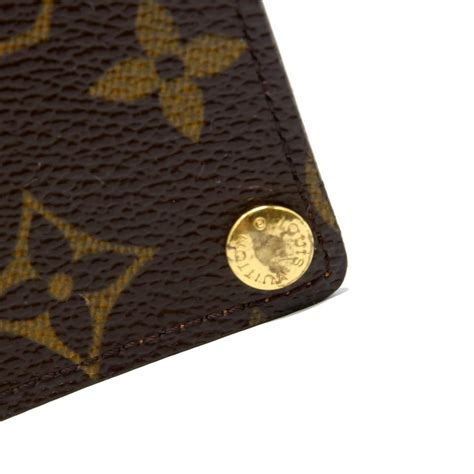 louis vuitton monogram signature lv credit pression card travel wallet tradesy