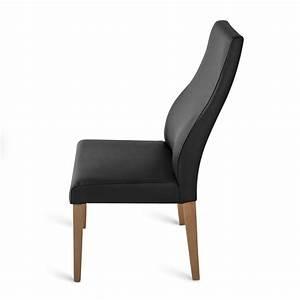 Stuhl Eiche Leder : sam stuhl echtleder schwarz eiche dickes leder bj rn auf ~ Watch28wear.com Haus und Dekorationen