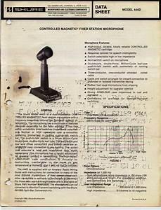 Shure 444d Manual