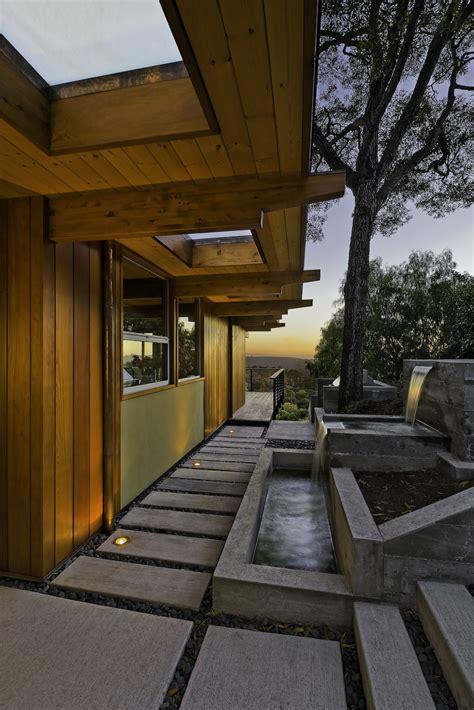 modern home features water feature waterfalls mid century modern home in santa barbara california