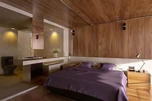 interieur design salon chambre a coucher et salle de bains With salle de bain design avec décoration d une chambre à coucher adulte