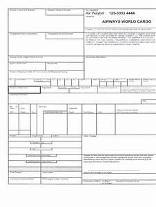 Waybill Invoice Airway Bill Format Fill Online Printable Fillable