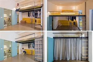 Lit Mezzanine Dressing : lit mezzanine 2 places 9 id es gain de place chambre adulte ~ Dode.kayakingforconservation.com Idées de Décoration