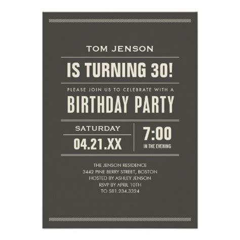 birthday invitations  adults zazzlecom  images