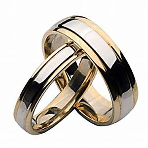 9ct two color gold his and her matching wedding ring sets With 9ct gold wedding ring sets