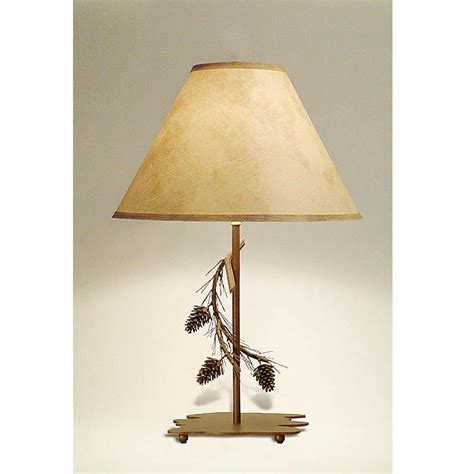 pine cone table lamp cabin place
