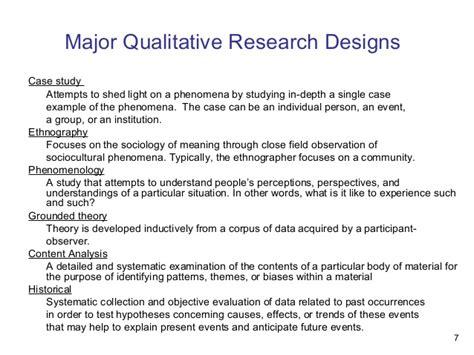 qualitative research design qualitative research designs