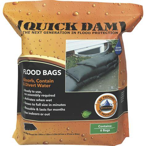 quick dam flood bags  pack model qd  northern