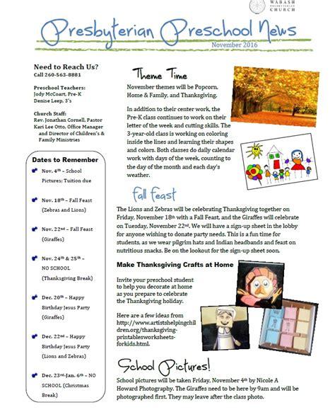 preschool newsletter november 2016 171 wabash presbyterian 589 | Preschool Newsletter 11.2016