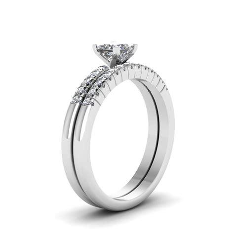 princess cut cubic zirconia exclusive wedding ring set