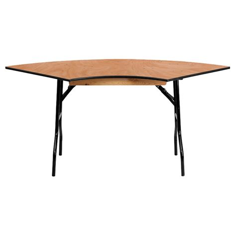 48 x 30 folding table 30 quot x 48 quot serpentine banquet table folding natural