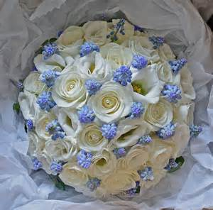 Spring Wedding Bouquet Blue and White