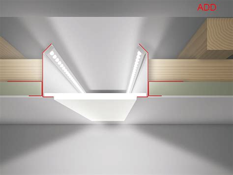 rigips profile verbinden led profilelement pe10 0240 add 40 led profil trockenbau lichtbandprofil 40mm einbautiefe