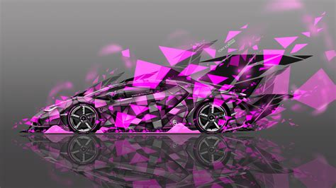 lamborghini centenario side super abstract aerography car