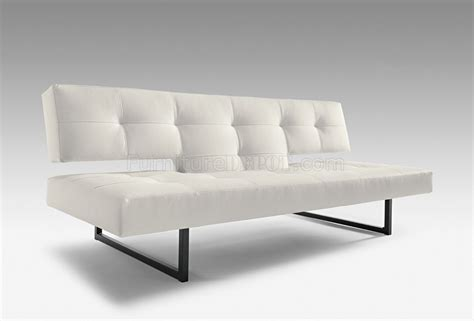 Abstandshalter Sofa Wand by White Or Black Leatherette Modern Sofa Bed Convertible